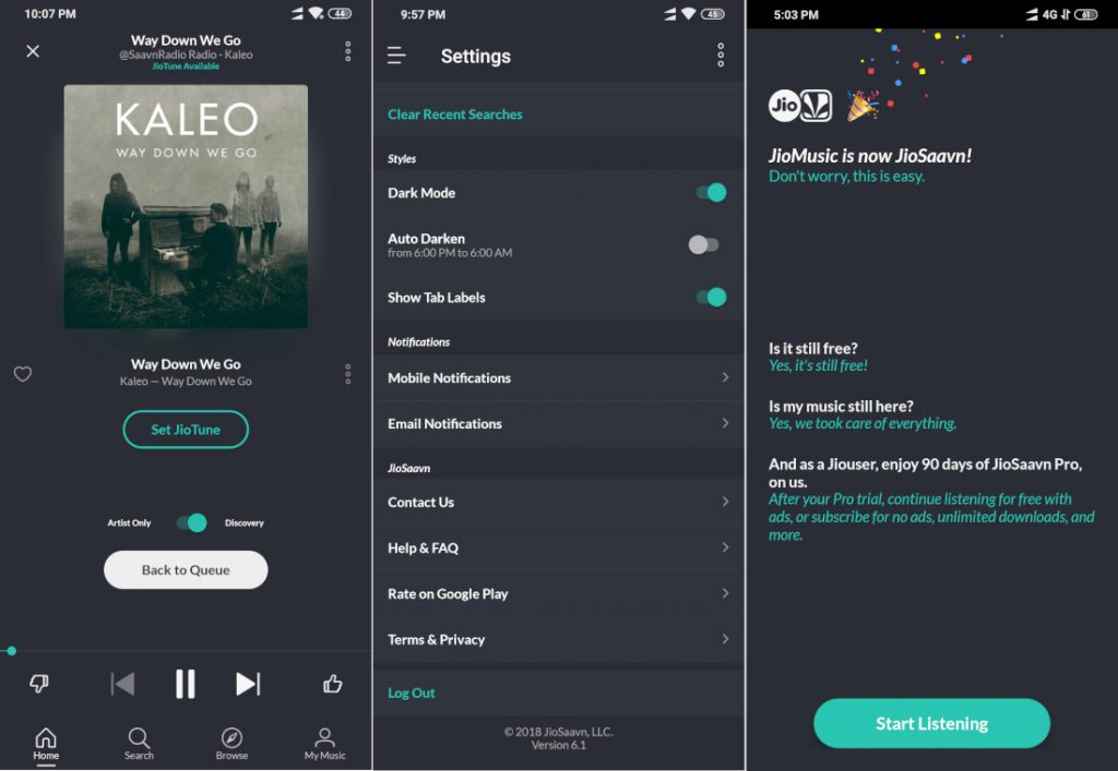 JioMusic is now JioSaavn, gets updated with new UI and