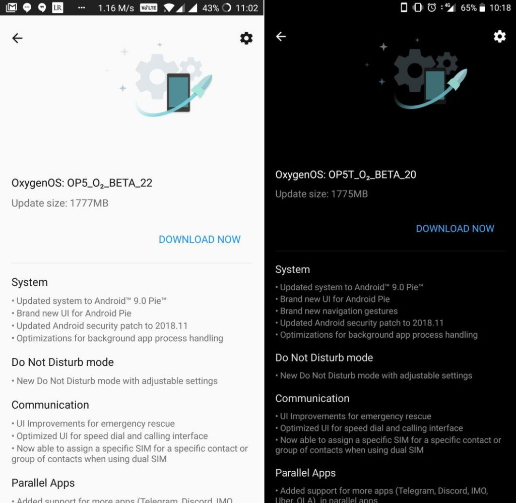 OnePlus 5 and 5T Android 9 0 (Pie) open beta update starts