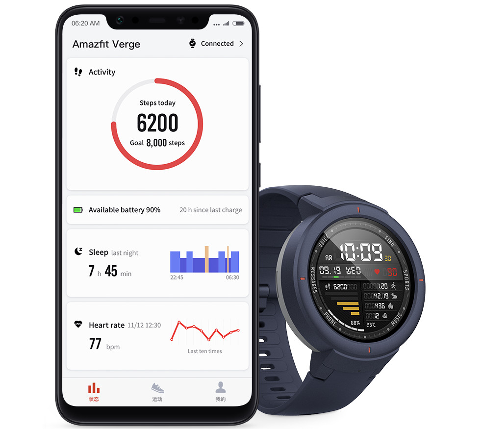 Amazfit Verge smartwatch with 1.3-inch AMOLED display, GPS, Sports tracking launched in India ...