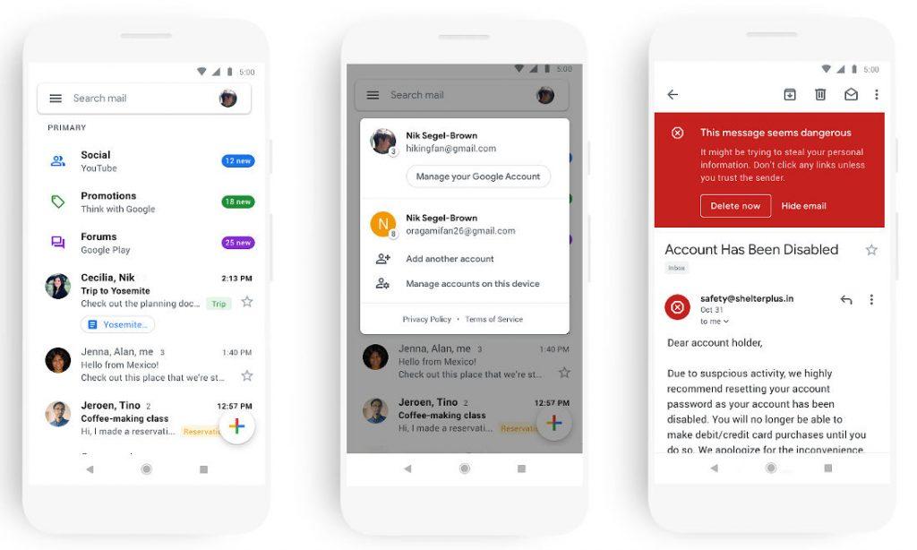 gmail app add account iphone