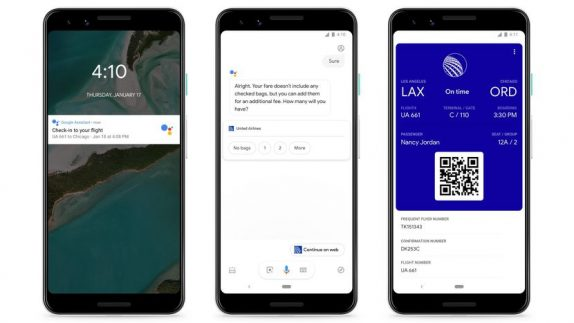 Google Assistant Flight details