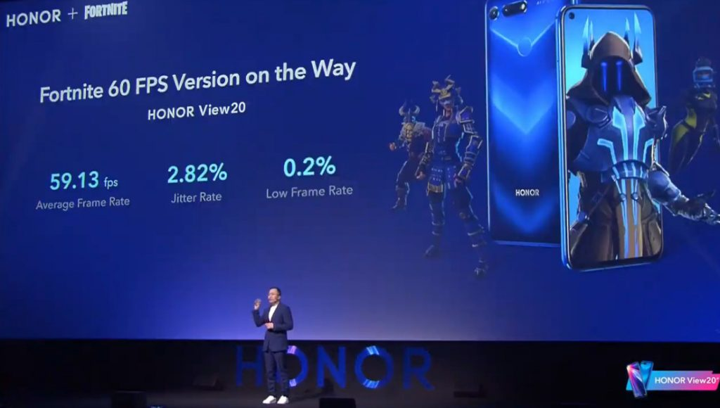 Fortnite for HONOR View20 60fps version and Honor Guard Fortnite