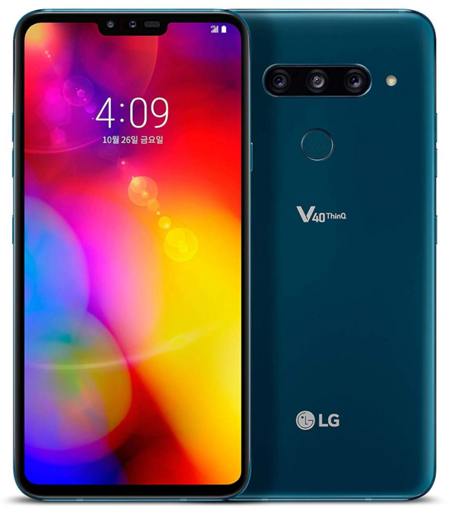 LG V40 ThinQ with 6 4-inch QHD+ OLED display, triple rear and dual