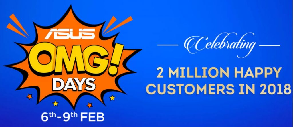 ASUS OMG Days Sale from Feb 6 to 9 on Flipkart – ZenFone 5Z at Rs