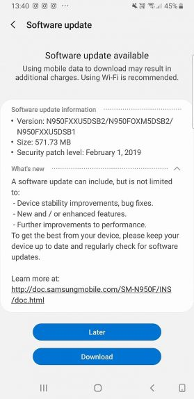 Note 8 Pie Stable