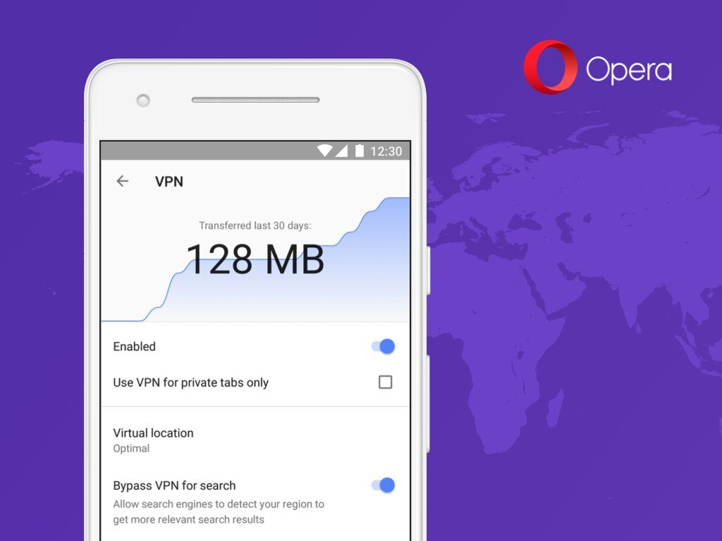 Opera browser for Android beta gets built-in free VPN