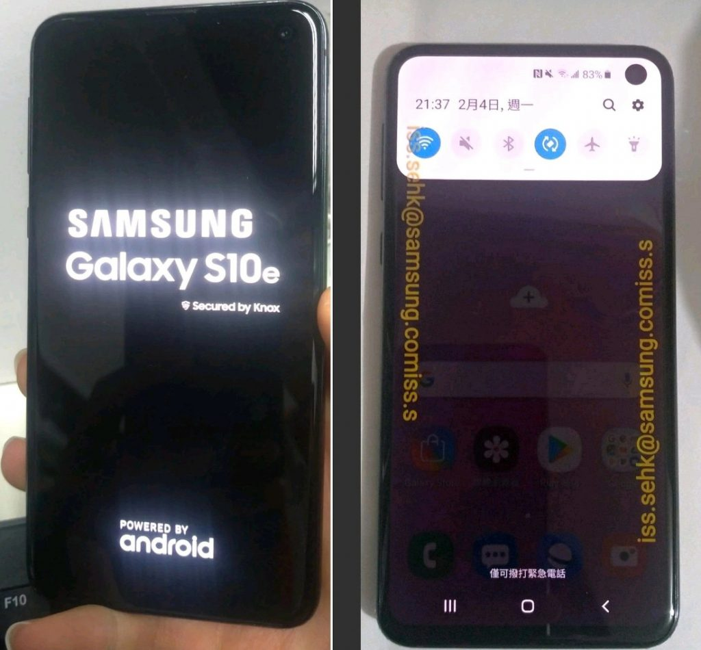 Samsung Galaxy S10e with 5 8-inch display with in-screen