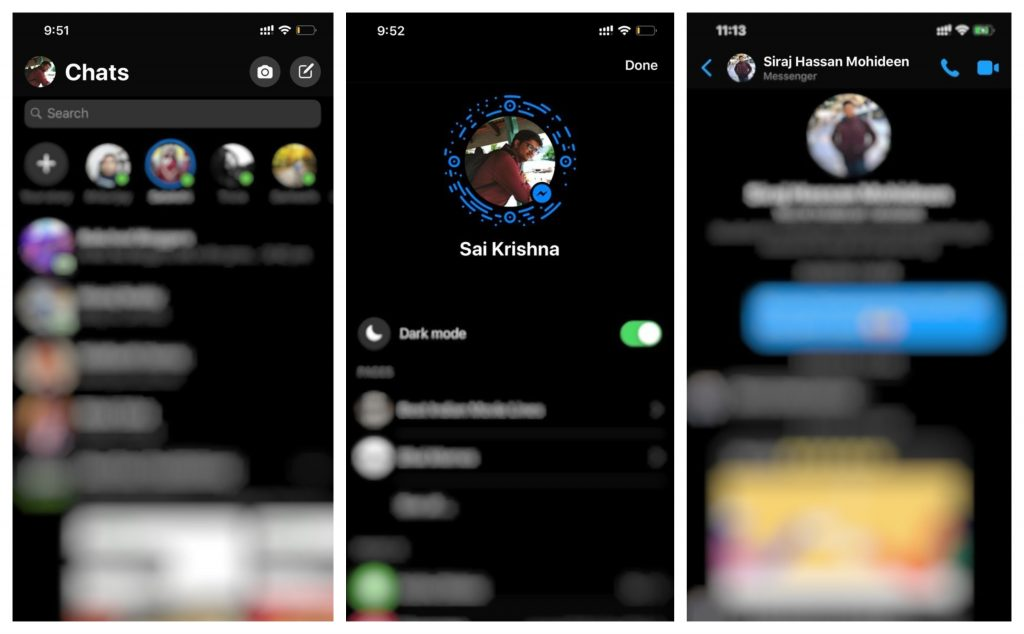 Facebook Messenger for Android and iOS gets Dark Mode