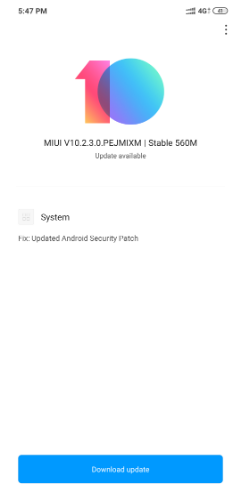POCO F1 MIUI 10 2 3 0 stable update starts rolling out