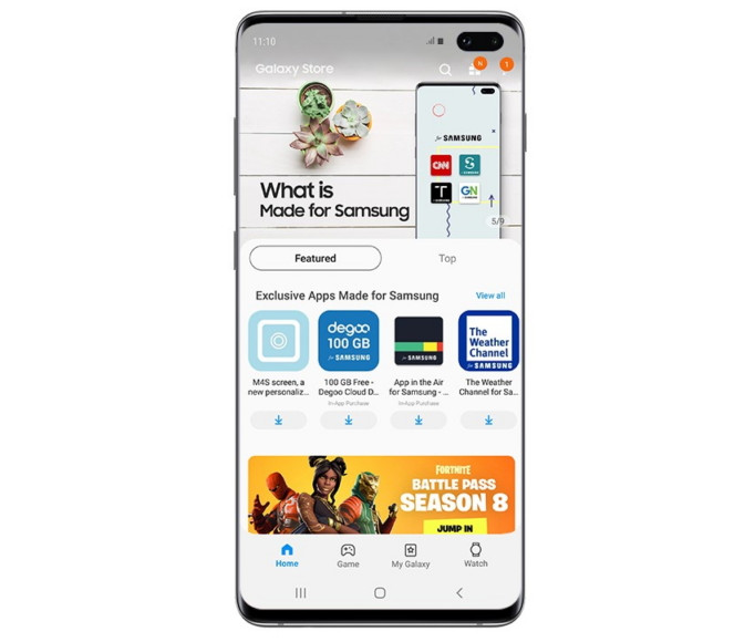 Samsung Galaxy Store offers optimized custom-curated, AI-recommended content