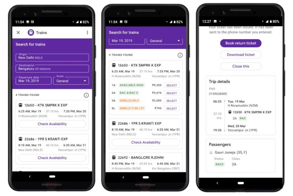 Google Pay Now Lets You Book Train Tickets At No
