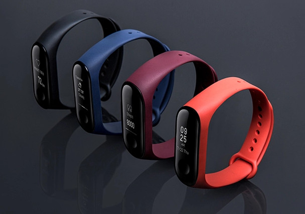 Xiaomi Mi Band 3 Straps in Orange, Red and Blue colors