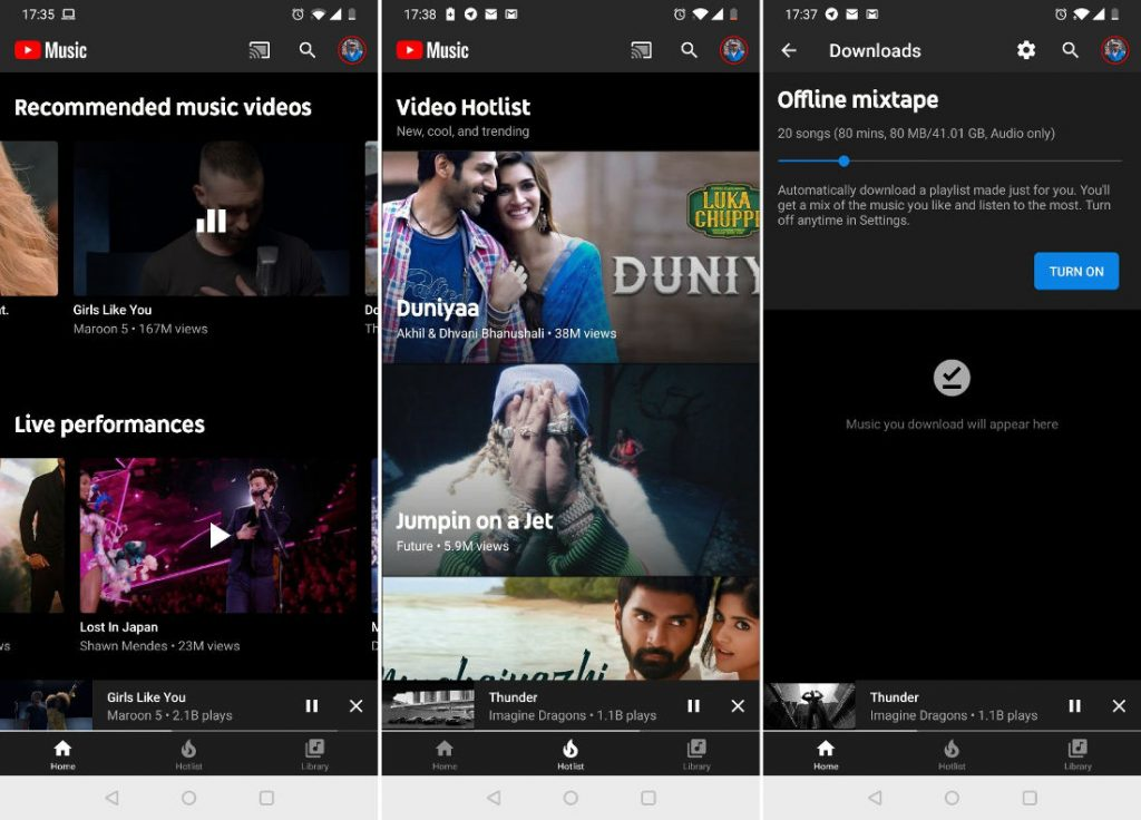 5ca5703e6 YouTube Music launched in India
