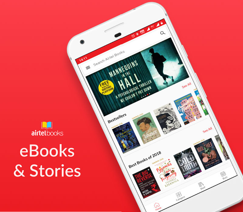Airtel Books ebooks app launched, offers over 70,000 titles