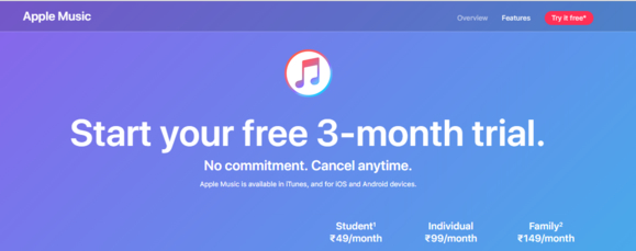 Apple Music subscription prices reduced in India, now at Rs. 99 per month