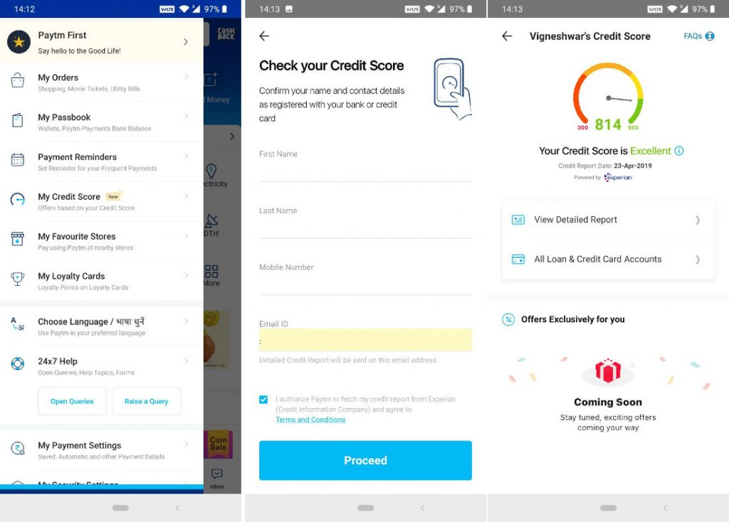 How To Check Credit Score >> How To Check Credit Score On Paytm In Just 4 Simple Steps