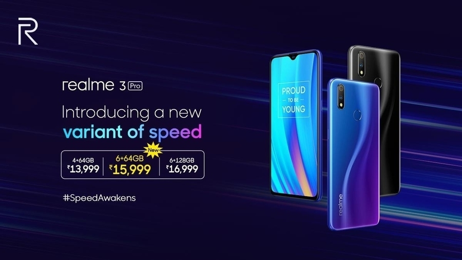 Realme 3 Pro 6GB RAM with 64GB storage version launched for