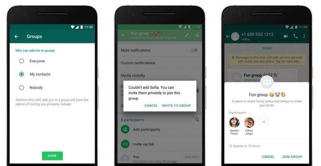 WhatsApp adds new privacy settings for Groups to prevent