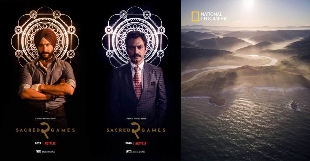 Shot on OnePlus 7 Pro: Netflix's Sacred Games Season 2 posters, National Geographic Magazine cover