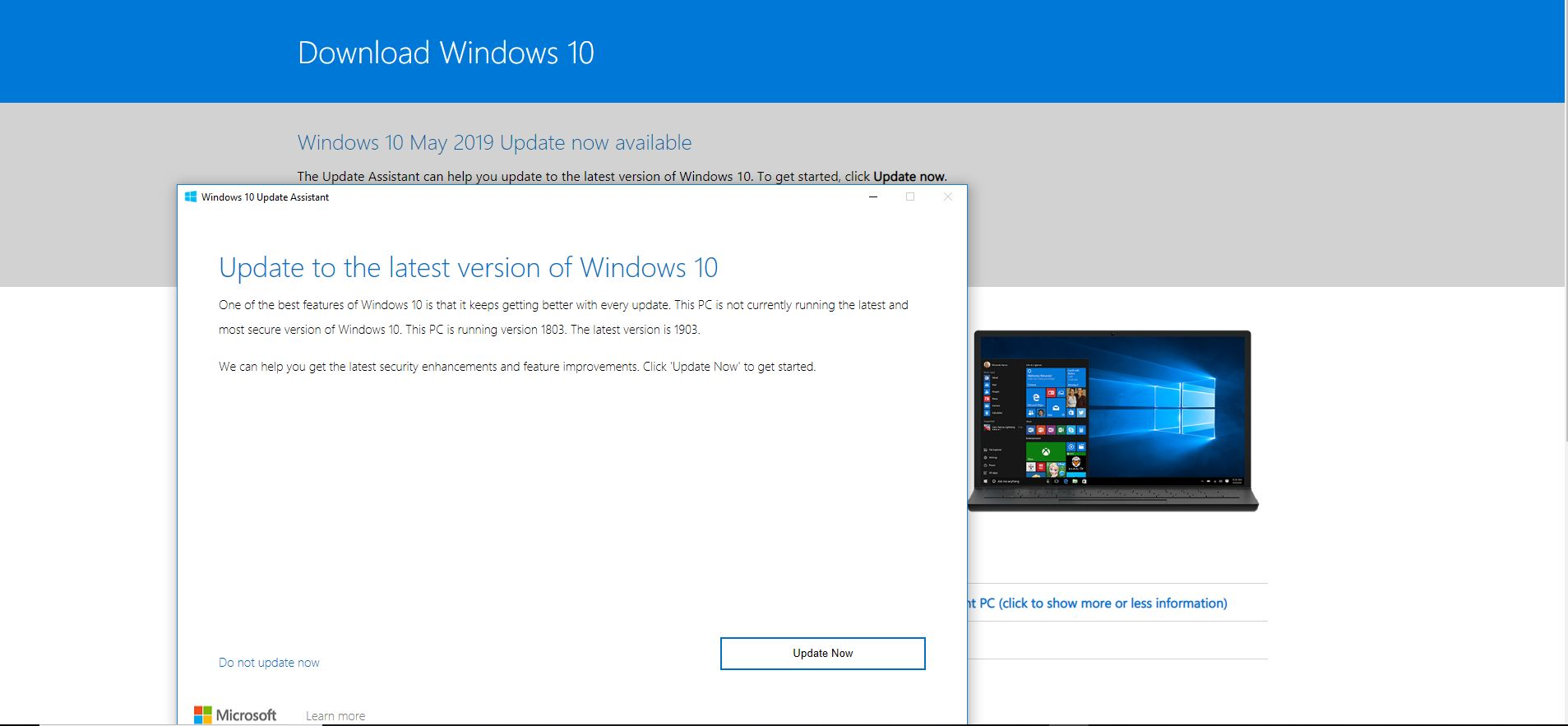 Feature Update To Windows 10 Version 1803 Download
