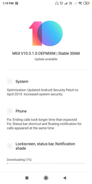 Xiaomi Redmi Y2 / S2 MIUI 10 3 stable update starts rolling