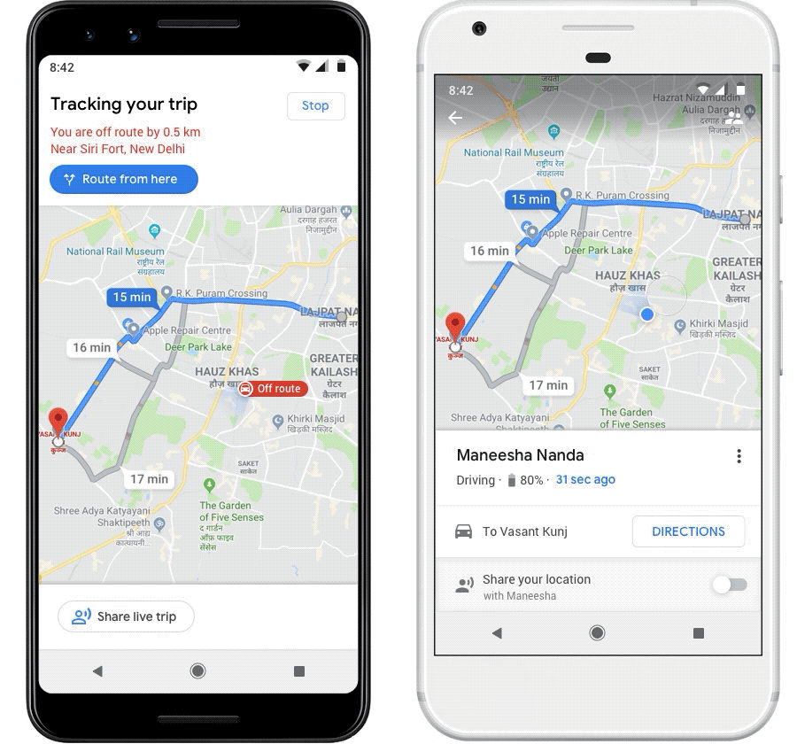 Google Maps gets 'Stay Safer' feature in India; alerts if ... on google data, google mobile, google wifi, google security, google wireless, google android, google amps,