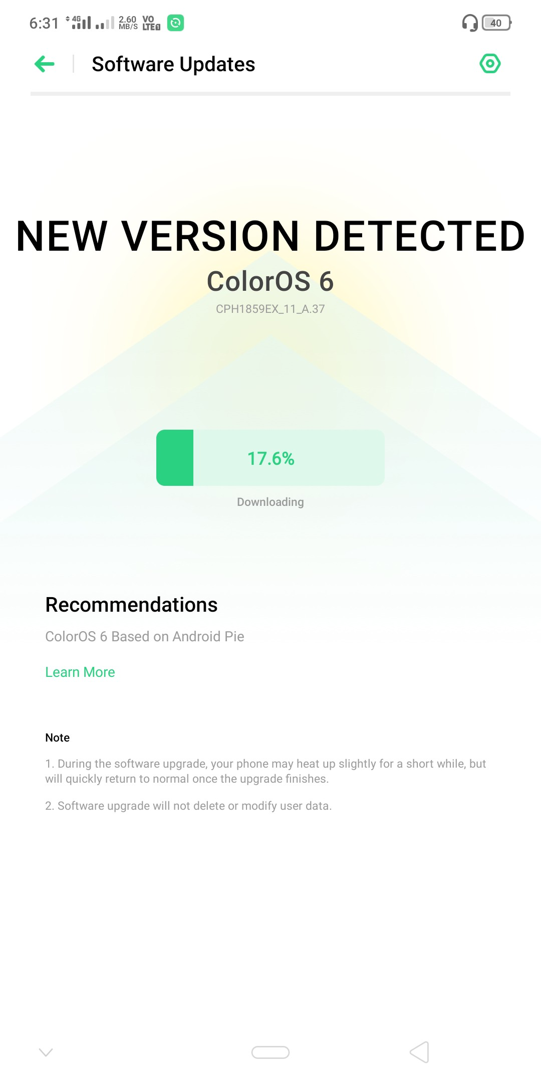Realme 1 and Realme U1 Android Pie ColorOS 6 stable update