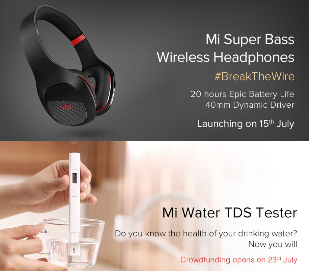 2bfa77102c3 Xiaomi Mi Super Bass Wireless Headphones launching in India on July 15, Mi  Water TDS Tester crowdfunding opens July 23