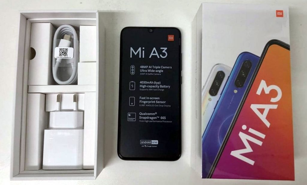 Xiaomi Mi A3 with 6-inch AMOLED display, triple rear cameras