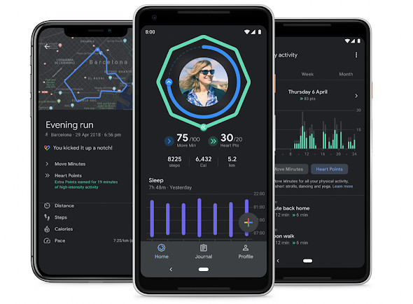 Google Fit is getting sleep tracking charts, rolling out dark mode widely