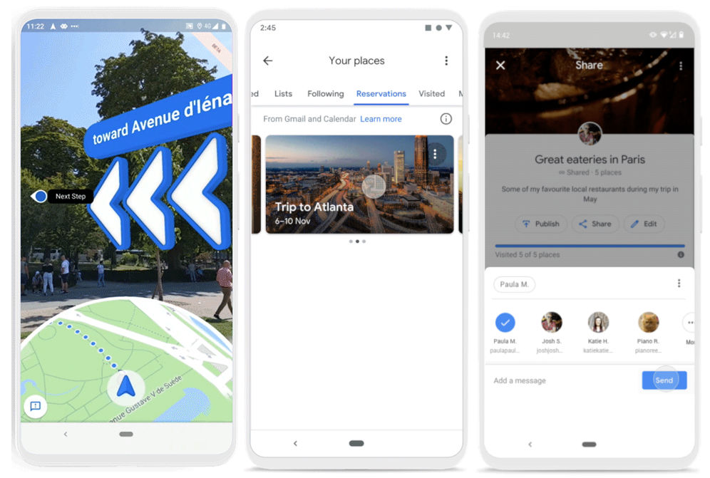 Google Maps gets Reservations tab, updated timeline in ... on google maps update, google maps screenshot, google maps path,