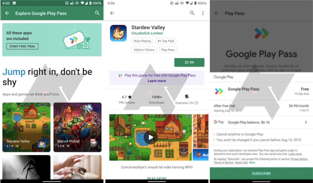 Google to offer 'Play Pass' subscription service for premium