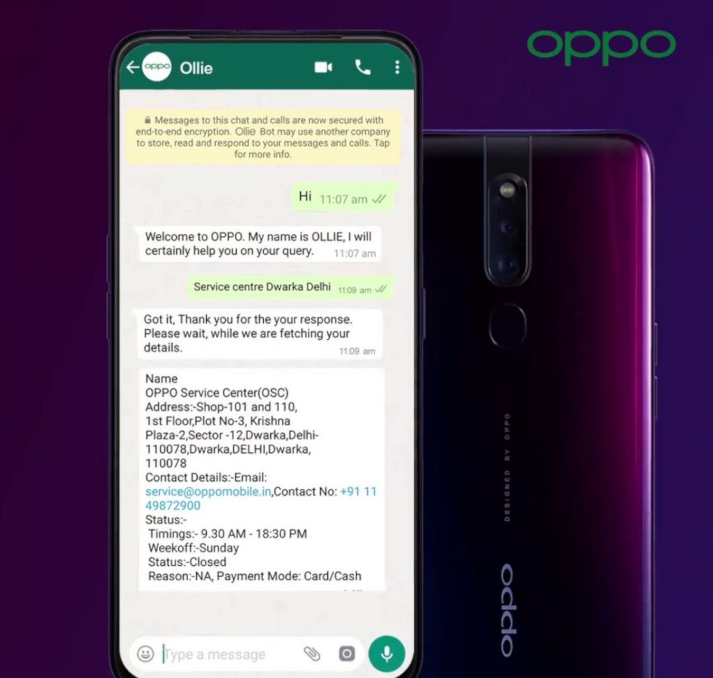 OPPO India launches interactive AI powered Chatbot Ollie on WhatsApp