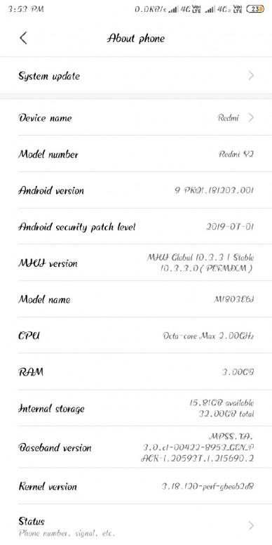 Xiaomi Redmi Y2 finally gets Android 9 0 Pie-based MIUI