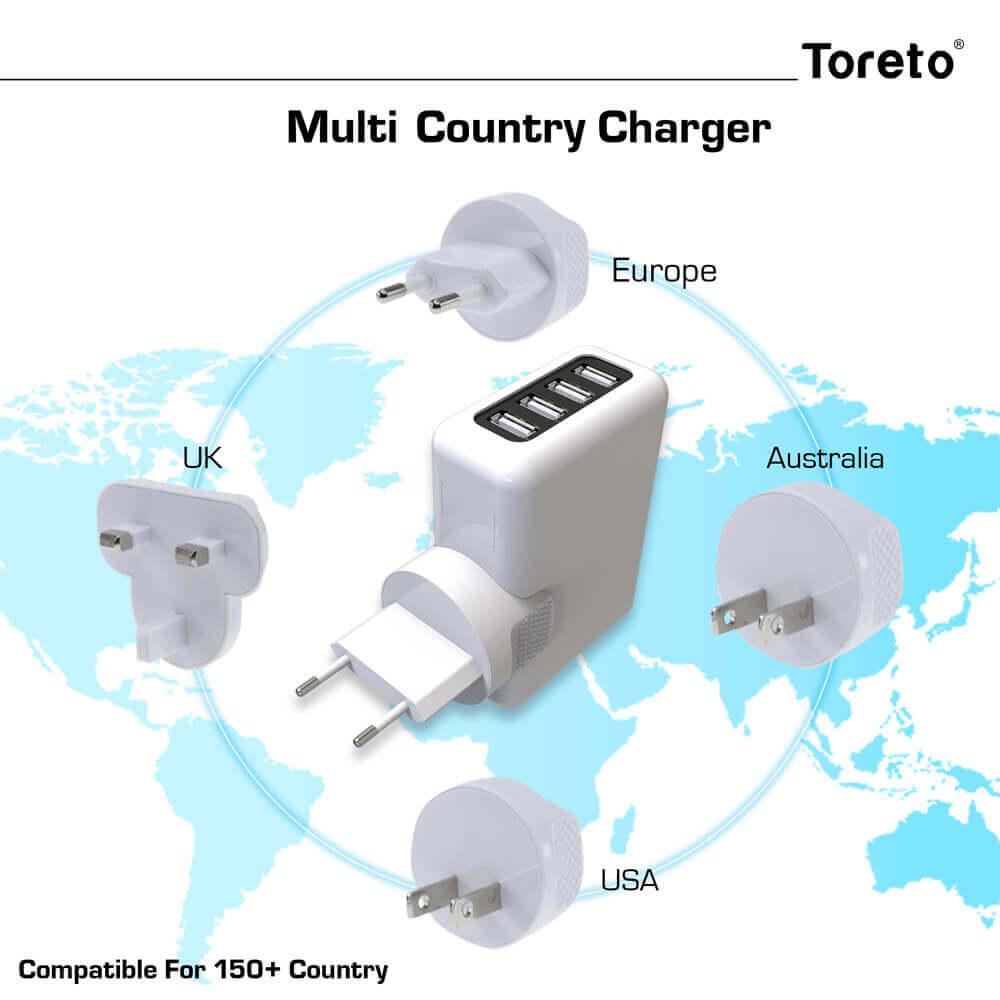 Toreto Unicharge 4 port universal USB charger hub launched