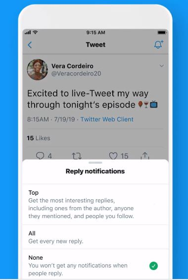 Twitter is testing ability to get notifications for tweet replies on