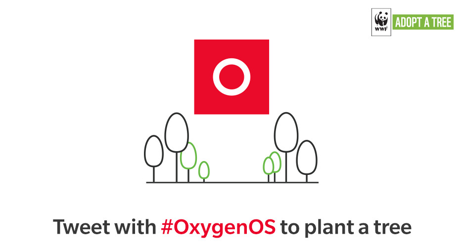OnePlus' 'Tweet with #OxygenOS to plant a tree' campaign gets over 27332 tweets in 24 hours