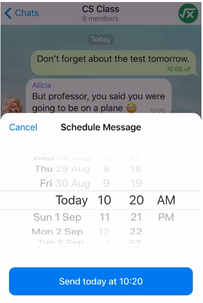 Telegram v5 11 update brings Scheduled Messages, Custom