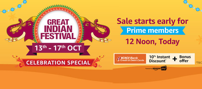 Amazon Great Indian Festival Celebration Special Sale: Best deals on smartphones, LED TVs, accessories and more