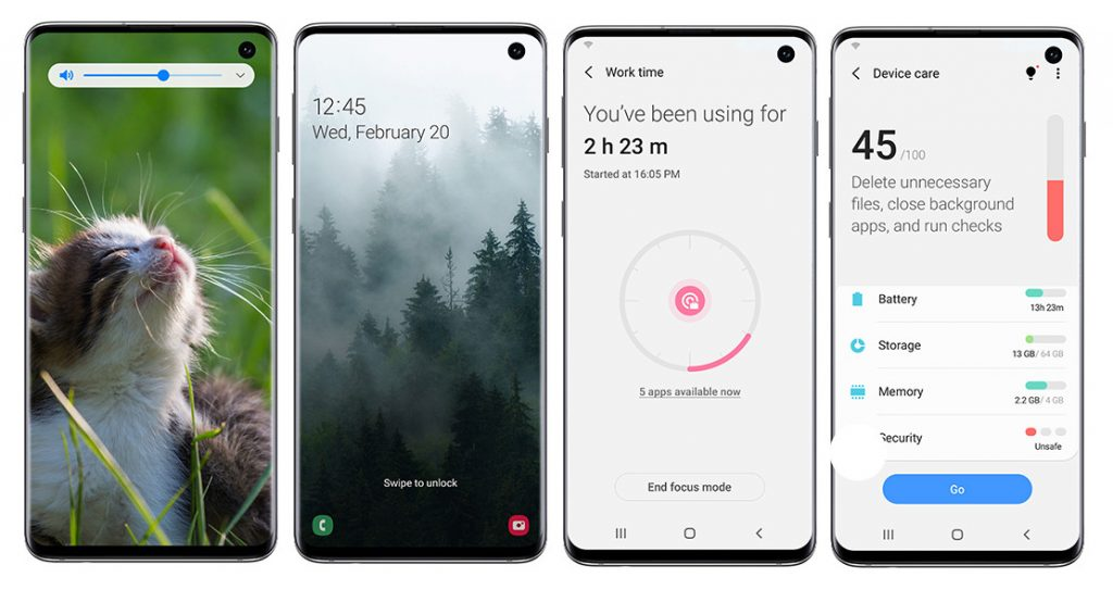Android 10 Samsung S10