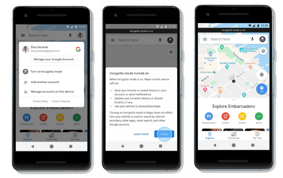 Google Maps Incognito Mode rolling out for Android users globally