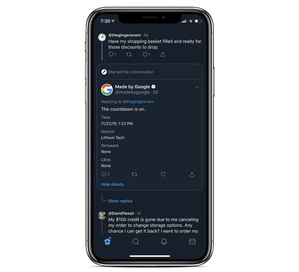 Twitter is testing Reddit-like conversation layout from replies