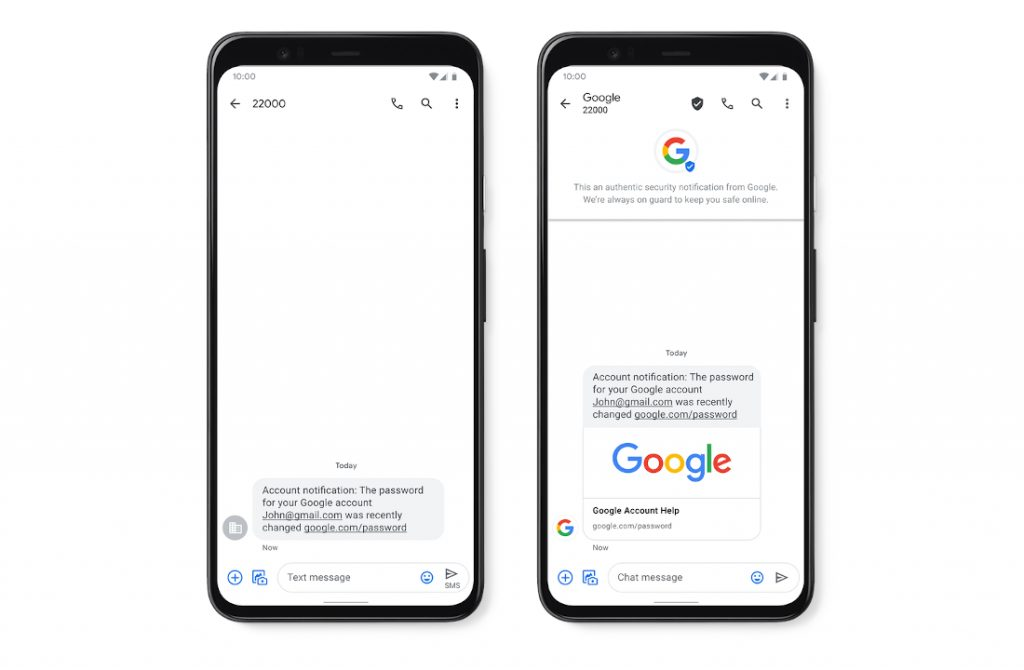 Android Messages gets Verified SMS in India, real time Spam Protection rolling out in the US