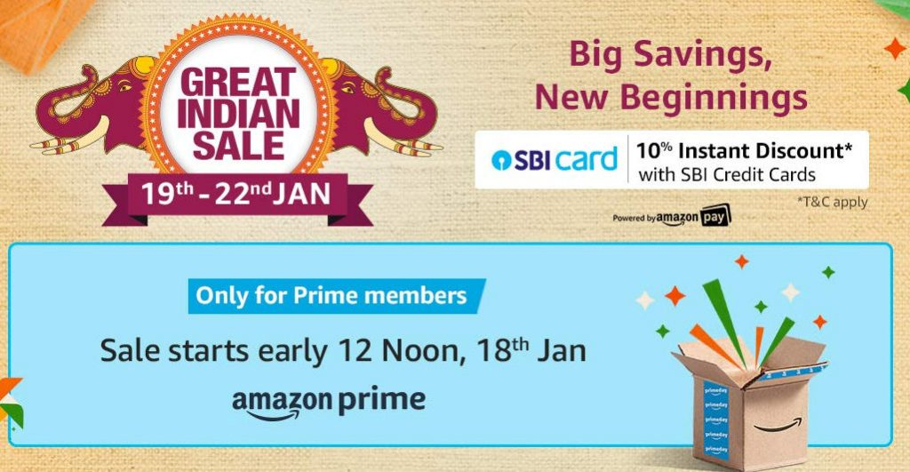 Amazon Great India Sale 2020 scheduled from Jan 19 to 22: Up to 40% off on smartphones, discounts on accessories, TVs and more