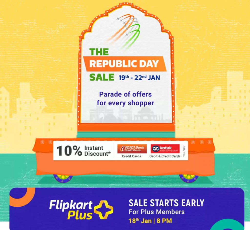 Flipkart Republic Day Sale 2020 From Jan 19 To 22 No Cost Emi