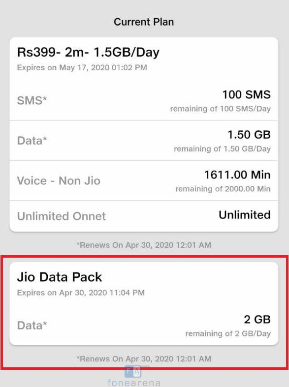 تعتمد Reliance Jio على 2 غيغابايت في اليوم لمدة 4 أيام مجانًا 1