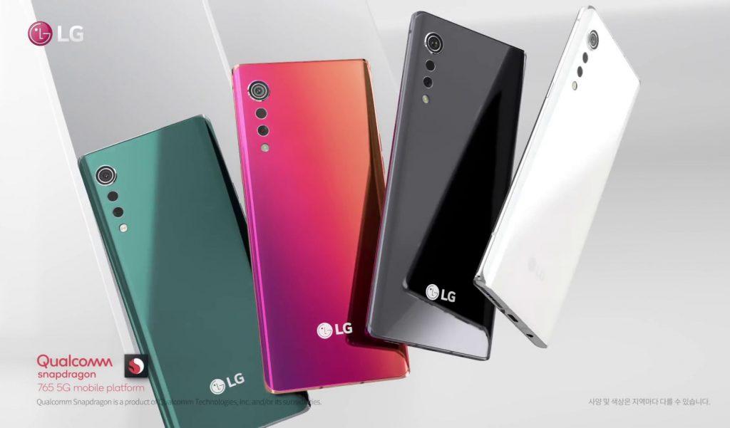 هاتف LG VELVET 5G مع Snapdragon 765 ، تصميم منحني متناظر من الأمام والخلف ، وكاميرات خلفية Raindrop ثلاثية مثارة في الفيديو الرسمي 1