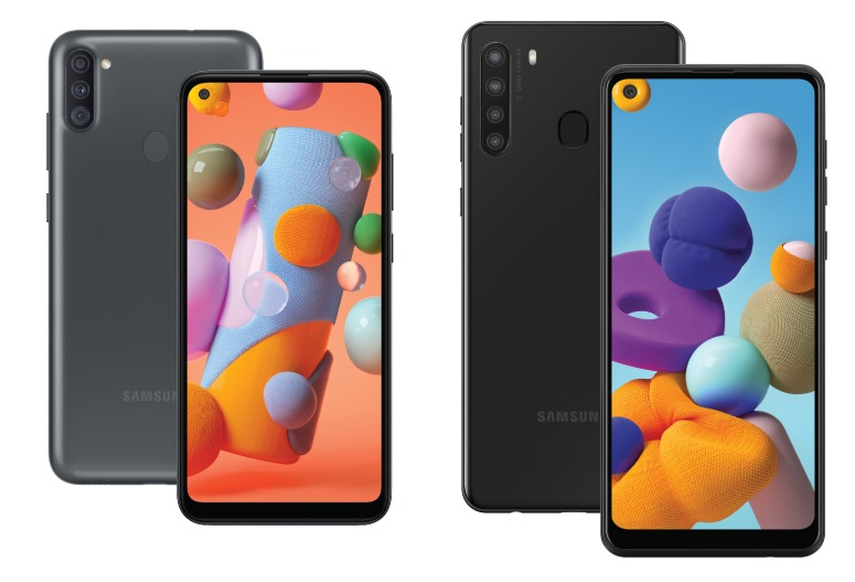 Samsung Galaxy A11 And Galaxy A21 With Hd Infinity O Display 4000mah Battery Announced