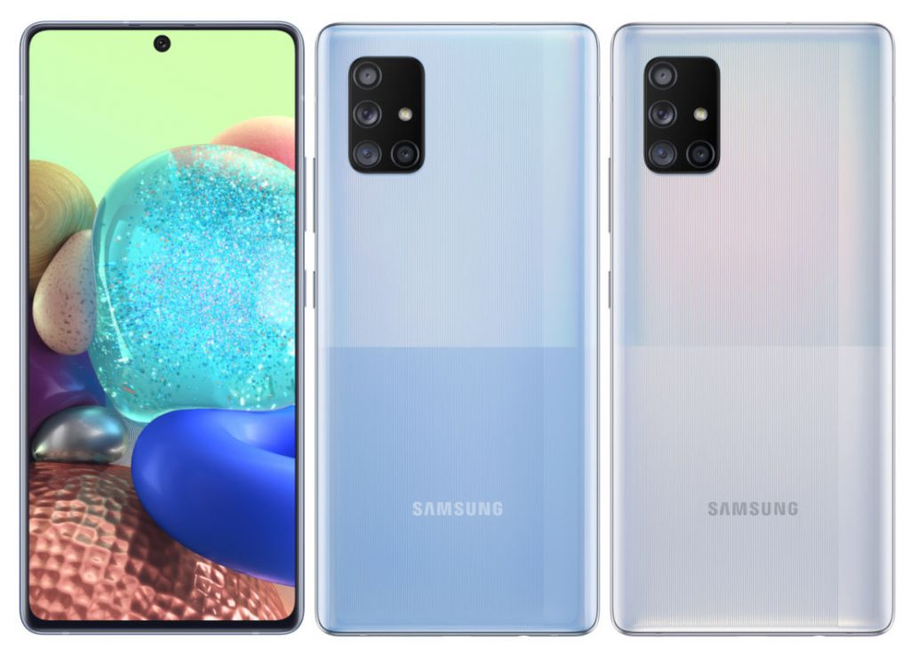 Samsung Galaxy A51 5g And Galaxy A71 5g With Fhd Amoled Infinity O Display Exynos 980 Quad Rear Cameras 32mp Front Camera Announced