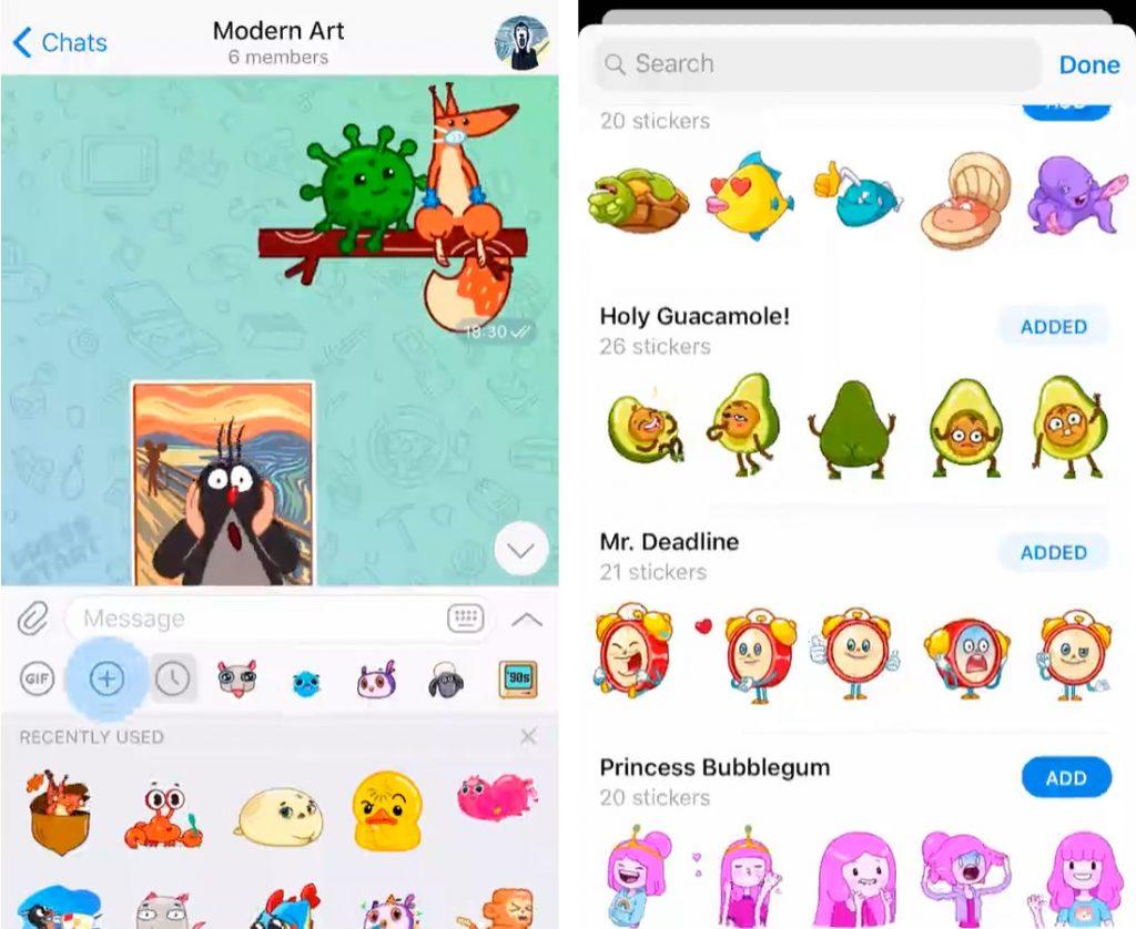 يجلب Telegram v6.1.0 اختبارات محسنة ودليل الملصقات والمزيد ؛ يتجاوز 400 مليون مستخدم شهريًا 2